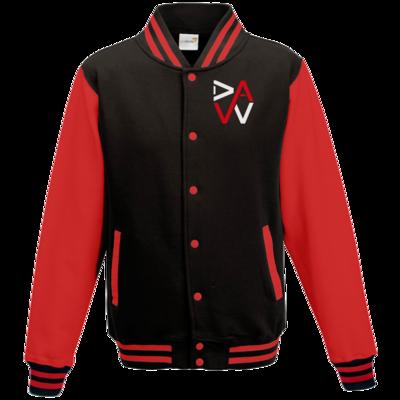 Motiv: College Jacke - DaW-Logo Rot