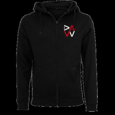 Motiv: Heavy Zip-Hoodie - DaW-Logo Rot