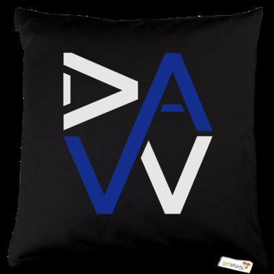 Motiv: Kissen Baumwolle - DaW-Logo Blau