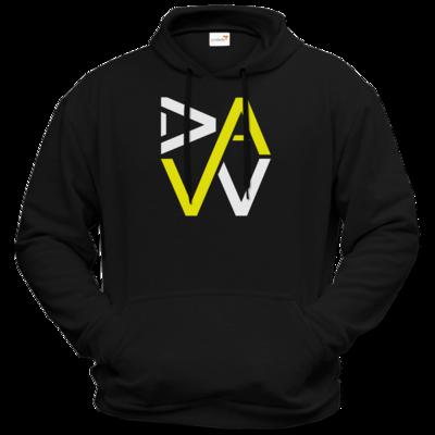 Motiv: Hoodie Premium FAIR WEAR - DaW-Logo Gelb