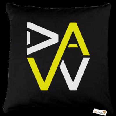 Motiv: Kissen Baumwolle - DaW-Logo Gelb