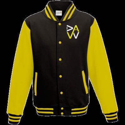 Motiv: College Jacke - DaW-Logo Gelb