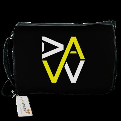 Motiv: Schultertasche - DaW-Logo Gelb