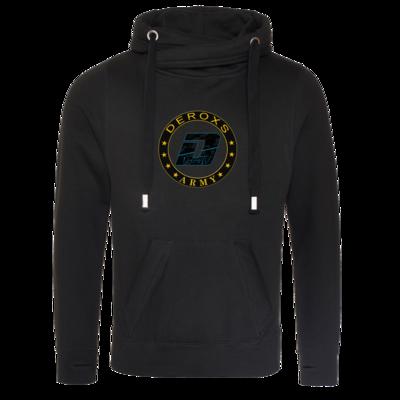 Motiv: Cross Neck Hoodie - Deroxs Army D Logo