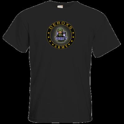 Motiv: T-Shirt Premium FAIR WEAR - Deroxs Army DeroxsTV Logo Kreis