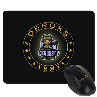 Motiv: Mousepad Textil - Deroxs Army DeroxsTV Logo Kreis