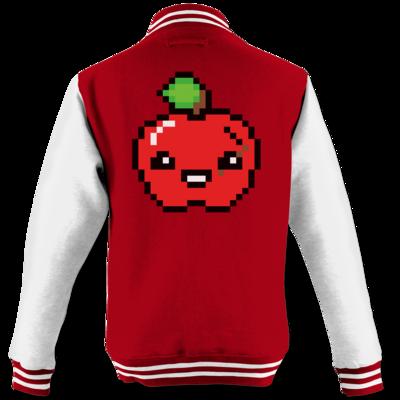 Motiv: College Jacke - Pixel Logo