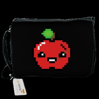 Motiv: Schultertasche - Pixel Logo