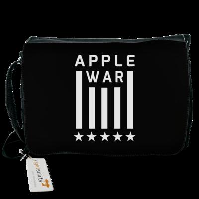 Motiv: Schultertasche - Applewar Streifen