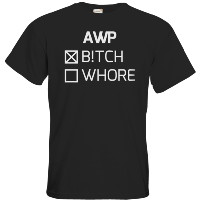 Motiv: T-Shirt Premium FAIR WEAR - B!tch - Whore