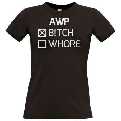Motiv: T-Shirt Damen Premium FAIR WEAR - B!tch - Whore