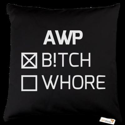 Motiv: Kissen Baumwolle - B!tch - Whore
