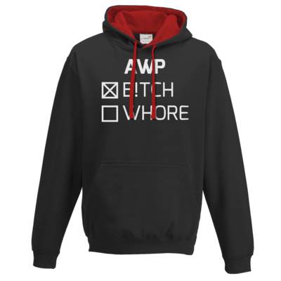 Motiv: Two-Tone Hoodie - B!tch - Whore