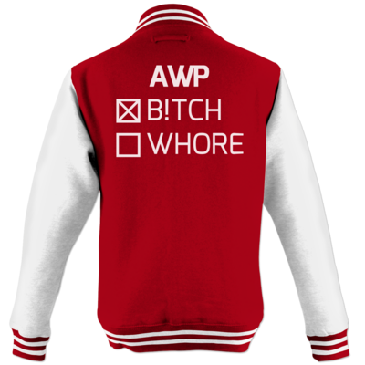 Motiv: College Jacke - B!tch - Whore