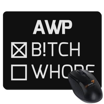 Motiv: Mousepad Textil - B!tch - Whore