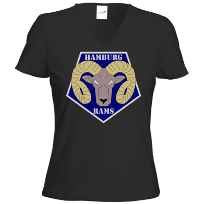 Motiv: T-Shirts Damen V-Neck FAIR WEAR - Shadowrun - Hamburg Rams