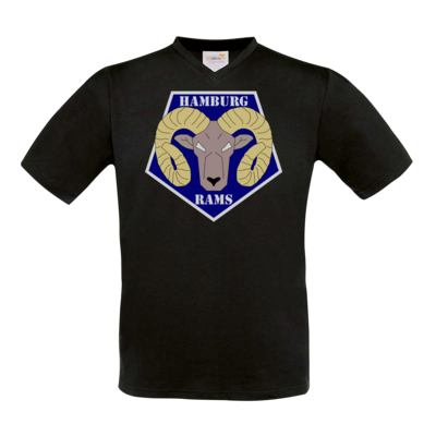Motiv: T-Shirt V-Neck FAIR WEAR - Shadowrun (r) - Hamburg Rams
