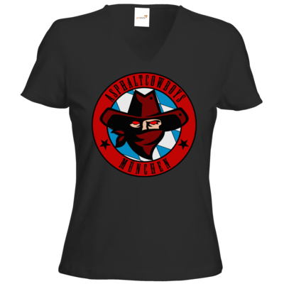 Motiv: T-Shirts Damen V-Neck FAIR WEAR - Shadowrun - Asphaltcowboys München