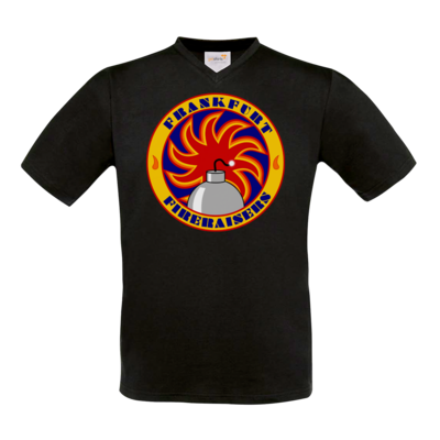 Motiv: T-Shirt V-Neck FAIR WEAR - Shadowrun - Frankfurt Fireraisers