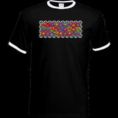 Motiv: T-Shirt Ringer - Popart Mütze