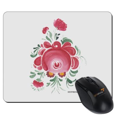Motiv: Mousepad Textil - Ostfriesische Teerose