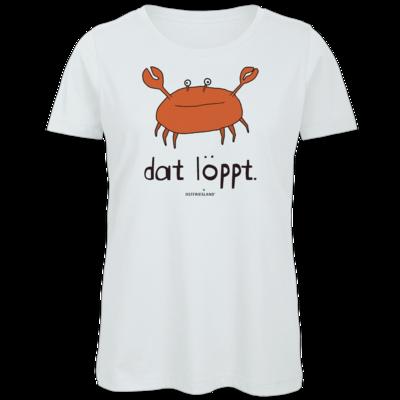 Motiv: Organic Lady T-Shirt - dat löppt. orange