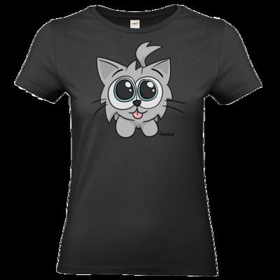 Motiv: T-Shirt Damen Premium FAIR WEAR - Kätzchen Weiß