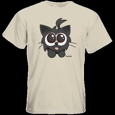 Motiv: T-Shirt Premium FAIR WEAR - Kätzchen Schwarz