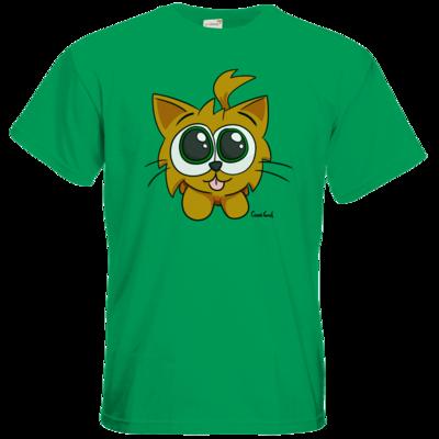 Motiv: T-Shirt Premium FAIR WEAR - Kätzchen Rot