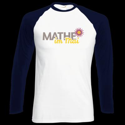 Motiv: Longsleeve Baseball T - Mathe im Mai 2020