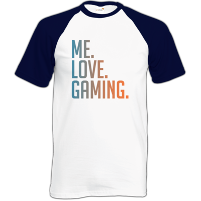 Motiv: Baseball-T FAIR WEAR - Me.Love.Gaming.