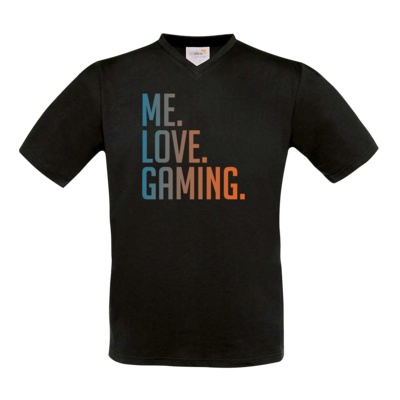 Motiv: T-Shirt V-Neck FAIR WEAR - Me.Love.Gaming.