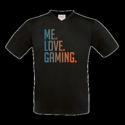 Motiv: T-Shirt V-Neck FAIR WEAR - Me.Love.Gaming.