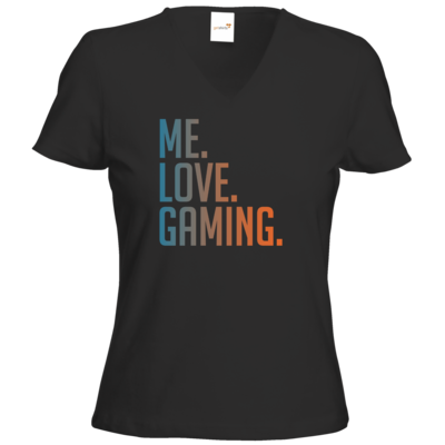 Motiv: T-Shirt Damen V-Neck Classic - Me.Love.Gaming.