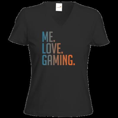 Motiv: T-Shirt Damen V-Neck Classic - Me.Love.Gaming.