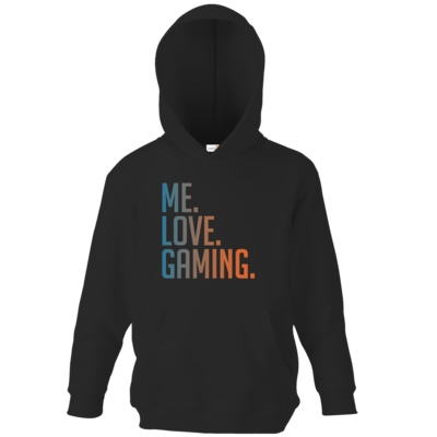 Motiv: Kids Hooded Sweat - Me.Love.Gaming.