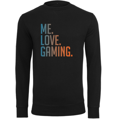 Motiv: Light Crew Sweatshirt - Me.Love.Gaming.