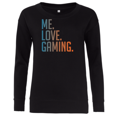 Motiv: Girlie Crew Sweatshirt - Me.Love.Gaming.