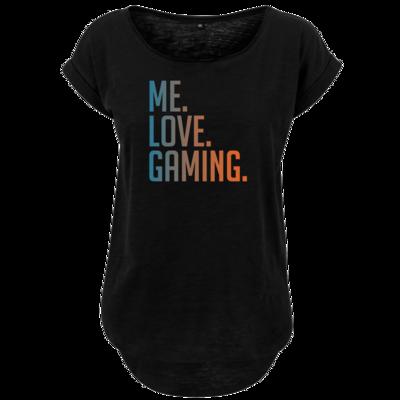 Motiv: Ladies Long Slub Tee - Me.Love.Gaming.