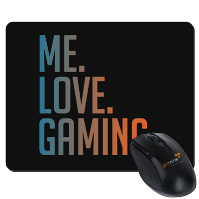 Motiv: Mousepad Textil - Me.Love.Gaming.
