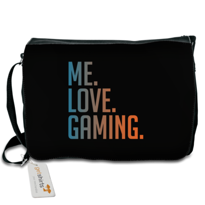 Motiv: Schultertasche - Me.Love.Gaming.