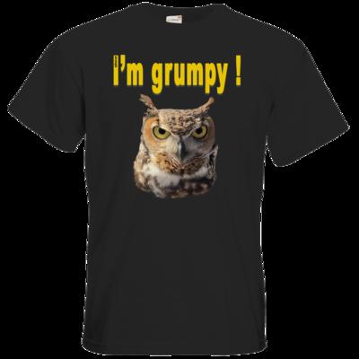 Motiv: T-Shirt Premium FAIR WEAR - I'm grumpy! (Eule)
