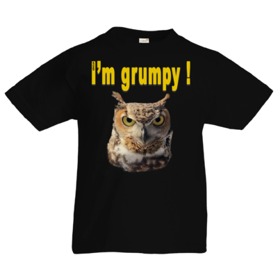 Motiv: Kids T-Shirt Premium FAIR WEAR - I'm grumpy! (Eule)