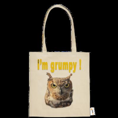 Motiv: Baumwolltasche - I'm grumpy! (Eule)