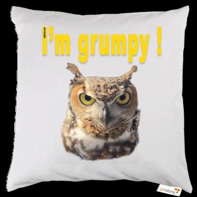 Motiv: Kissen - I'm grumpy! (Eule)
