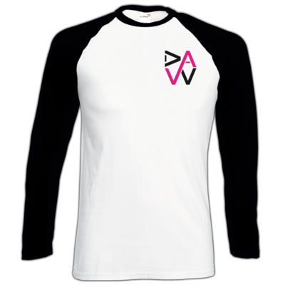 Motiv: Longsleeve Baseball T - DaW-Logo Pink