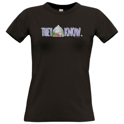 Motiv: T-Shirt Damen Premium FAIR WEAR - They Know...
