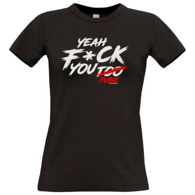 Motiv: T-Shirt Damen Premium FAIR WEAR - Yeah U2BE