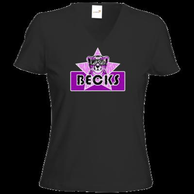 Motiv: T-Shirt Damen V-Neck Classic - Becks