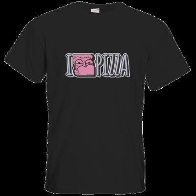 Motiv: T-Shirt Premium FAIR WEAR - I <3 PIZZA